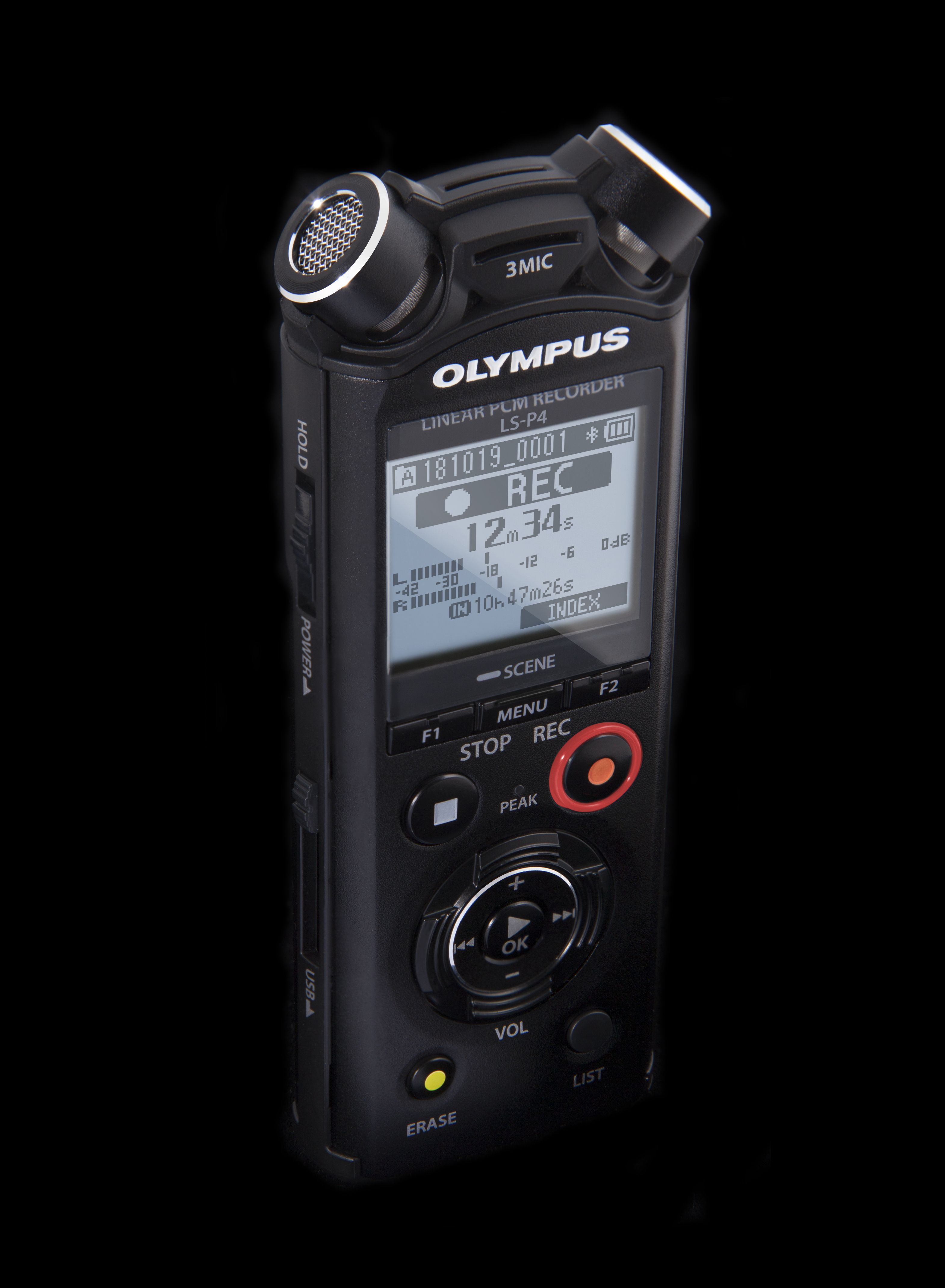 New Olympus LS-P4 features 3 microphones, FLAC recording